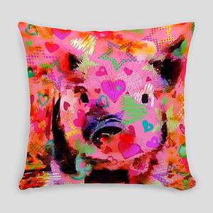 Sweet Piglet Graffiti Everyday Pillow