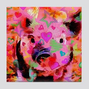 Sweet Piglet Graffiti Tile Coaster