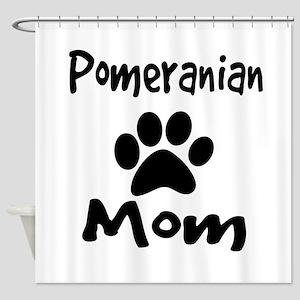 Pomeranian Mom Shower Curtain