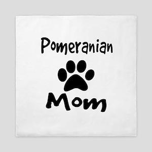 Pomeranian Mom Queen Duvet