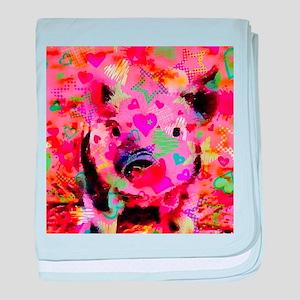 Sweet Piglet Graffiti baby blanket