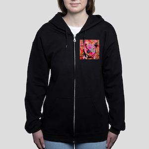 Sweet Piglet Graffiti Women's Zip Hoodie