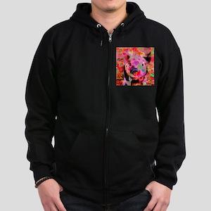 Sweet Piglet Graffiti Zip Hoodie (dark)