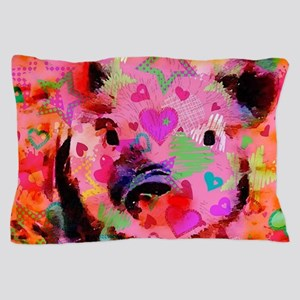 Sweet Piglet Graffiti Pillow Case