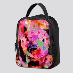 Sweet Piglet Graffiti Neoprene Lunch Bag