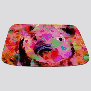 Sweet Piglet Graffiti Bathmat