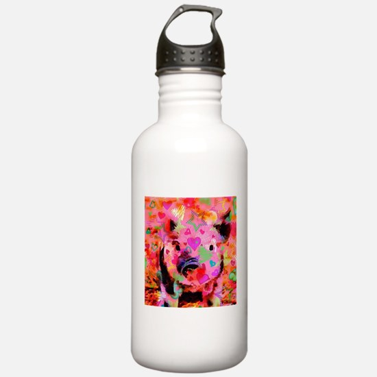 Sweet Piglet Graffiti Water Bottle