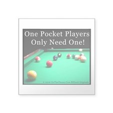 One Pocket Players Only Nee Square Sticker 3