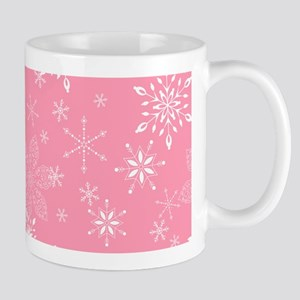 Snowflakes Pink Mug