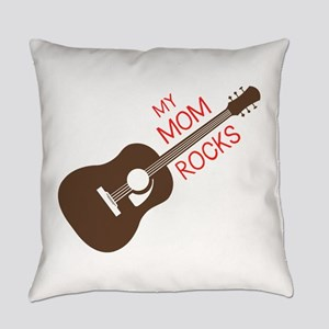 My Mom Rocks Everyday Pillow
