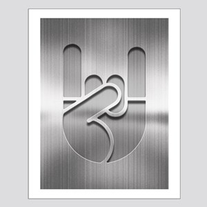 Stainless Rock Hand Small Poster