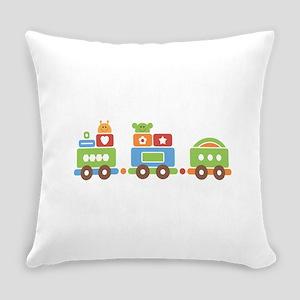 Childrens Toy Train Choo-Choo Everyday Pillow