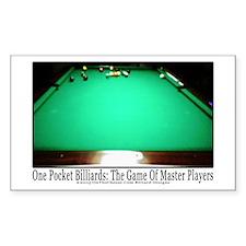 1 Pocket Billiard Master Sticker (Rectangle 10 pk)