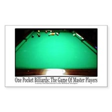 1 Pocket Billiard Masters Sticker (Rectangle)