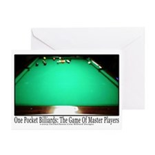 1 Pocket Billiard Master Greeting Cards (Pk of 20)