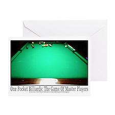1 Pocket Billiard Master Greeting Cards (Pk of 20)