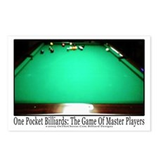 1 Pocket Billiard Masters Postcards (Package of 8)
