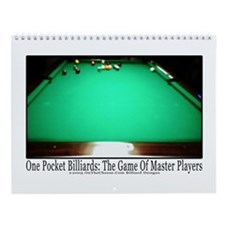 1 Pocket Billiard Masters Wall Calendar
