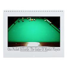 1 Pocket Billiard Masters Wall Calendar