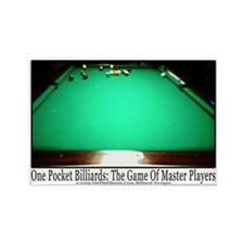 1 Pocket Billiard Masters Rectangle Magnet