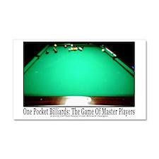 1 Pocket Billiard Masters Car Magnet 20 x 12