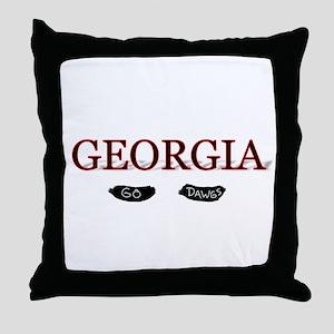 Georgia Bulldogs Throw Pillow