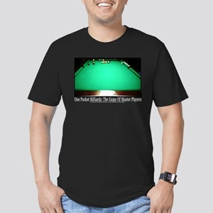 1 Pocket Billiard Mast Men's Fitted T-Shirt (dark)