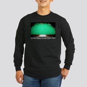 1 Pocket Billiard Masters Long Sleeve Dark T-Shirt