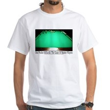 1 Pocket Billiard Masters White T-Shirt