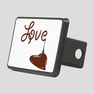 Love Chocolate Rectangular Hitch Cover