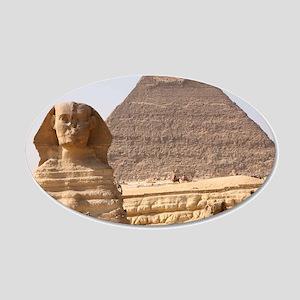 PYRAMID EGYPT 20x12 Oval Wall Decal