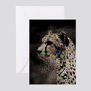 Abstract Animal Greeting Cards
