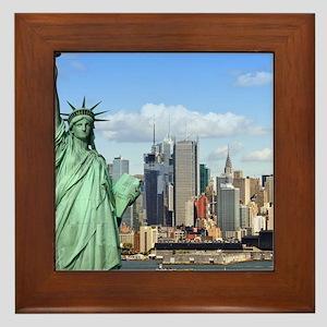 NY LIBERTY 1 Framed Tile