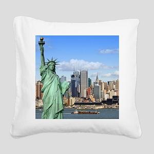 NY LIBERTY 1 Square Canvas Pillow