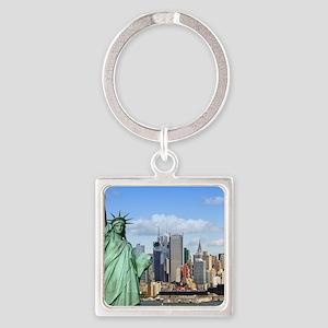 NY LIBERTY 1 Square Keychain