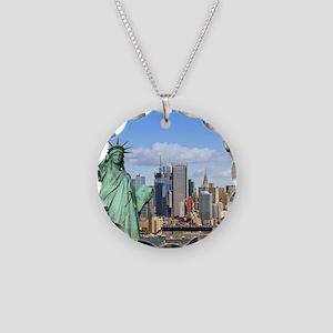 NY LIBERTY 1 Necklace Circle Charm