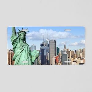 NY LIBERTY 1 Aluminum License Plate