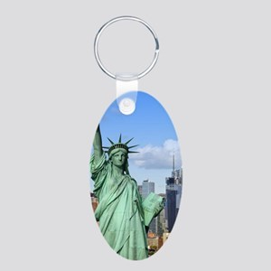 NY LIBERTY 1 Aluminum Oval Keychain