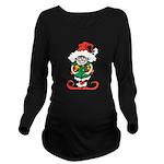 Naughty Elf Long Sleeve Maternity T-Shirt
