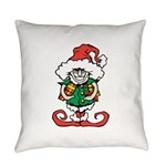 Naughty Elf Everyday Pillow