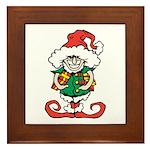 Naughty Elf Framed Tile