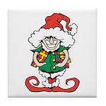 Naughty Elf Tile Coaster