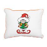 Naughty Elf Rectangular Canvas Pillow