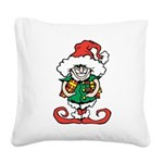 Naughty Elf Square Canvas Pillow