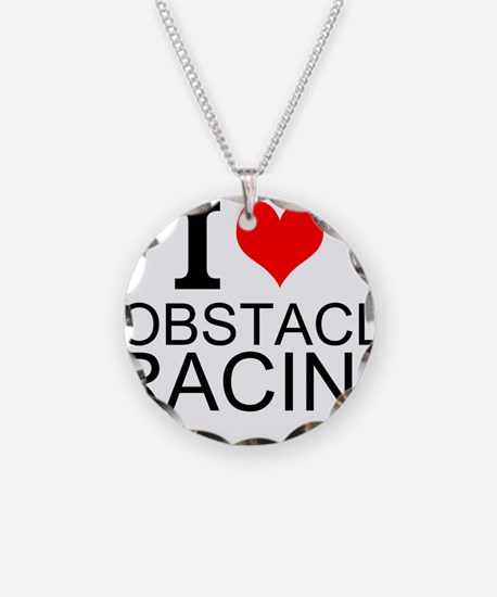 I Love Obstacle Racing Necklace