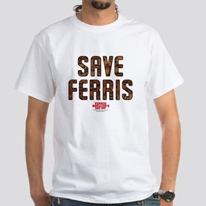 Ferris Bueller - Save Ferris White T-Shirt