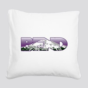 Bend Square Canvas Pillow