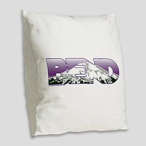 Bend Burlap Throw Pillow