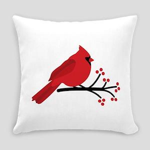 Christmas Cardinals Everyday Pillow