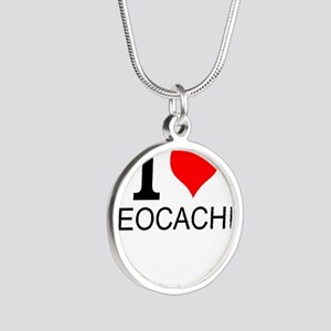 I Love Geocaching Necklaces